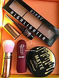 Помада жидкая водостойкая Lip Gloss  + Пудра Kiss Beauty 2in1 Matte №0058, фото 9