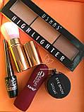Помада жидкая водостойкая Lip Gloss  + Пудра Kiss Beauty 2in1 Matte №0058, фото 10