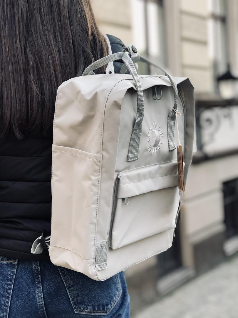 Рюкзак в стиле Fjallraven Re- Kanken Classic светло - серый