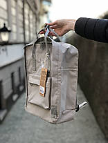 Рюкзак в стиле Fjallraven Re- Kanken Classic светло - серый, фото 3