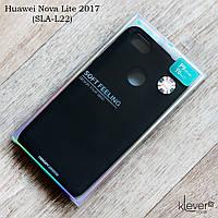 Оригинальный силиконовый чехол Mercury Goospery для  Huawei Nova Lite 2017 (SLA-L22) (черный)