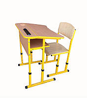 Комплект регулируемый одноместный для начальной школы НУШ ( парта + стул )