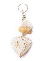 "Брелок ""Сердце"" деревянный,длина 15 см"