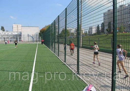 Ограждение спортивных площадок (2 м. длинная сторона и 4 м. короткая) для футбола 70х110, фото 2