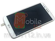 Модуль LG D800 G2, D801, D803, LS980, VS980, F320 Дисплей + тачскрин БЕЛЫЙ с передней панелью