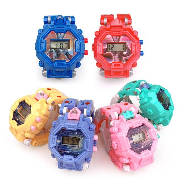 f2fc312d ... который с легкостью превращается в наручные часы! Это не просто  игрушка, а еще и полезный и крутой аксессуар.Часы-трансформер Робот  компактные и легкие.