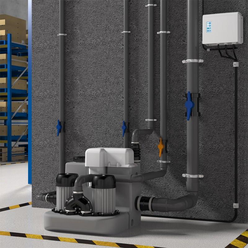 Насосная станция санитарная высокотемпературная двухмоторная  SANICOM 2 , SFA (Франция)