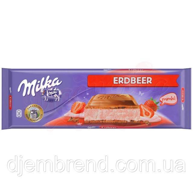 Шоколад Милка со вкусом клубники