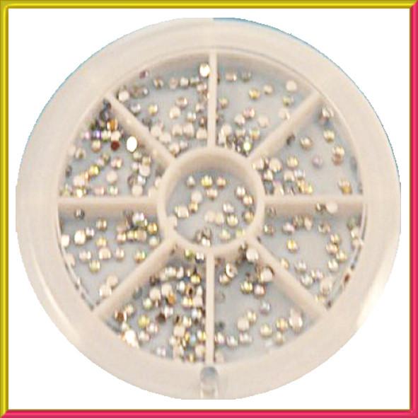 Набор Камней в карусели Стразы Хамелеон Серебряные Мелкие, Декор для Ногтей, Дизайн Ногтей.