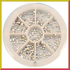 Набір Каменів в каруселі Стрази Хамелеон Срібні Дрібні, Декор для Нігтів, Дизайн Нігтів.