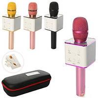 Беспроводной микрофон караоке Bluetooth Q7 MS + чехол, фото 1