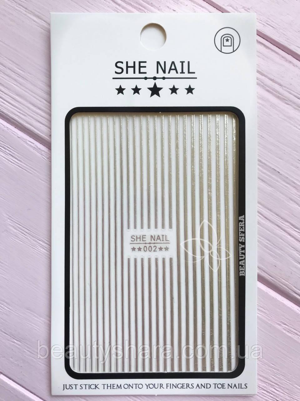 Гибкая лента для дизайна ногтей (серебро)