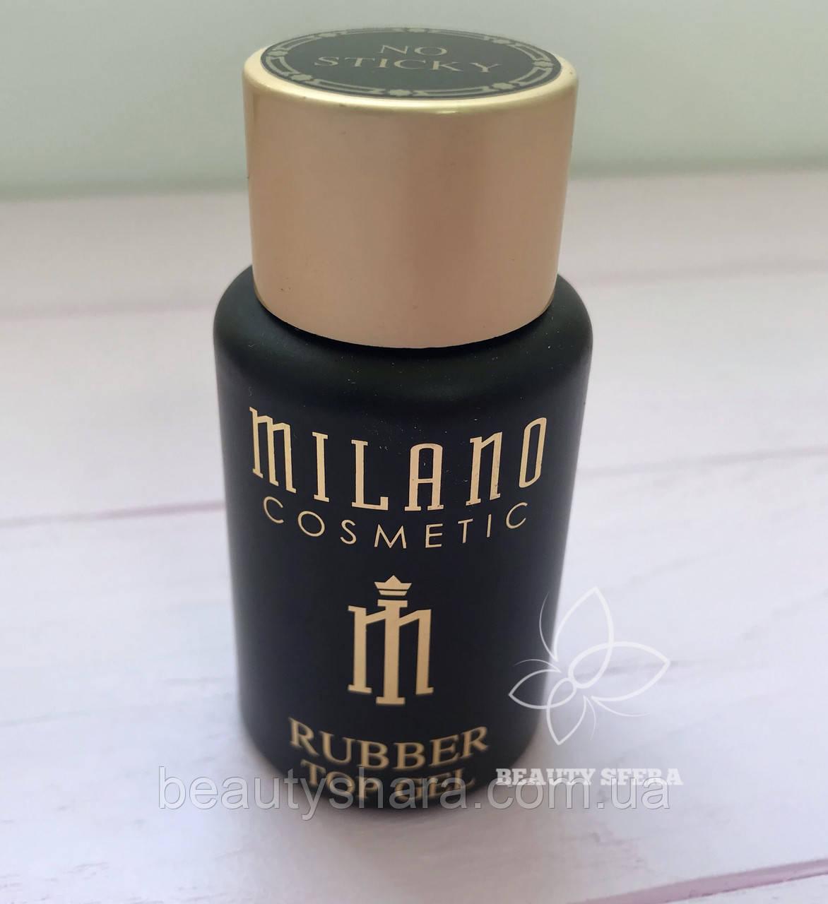Топ Milano No Sticky Rubber Top Coat 35 мл - верхнее покрытие для гель-лака