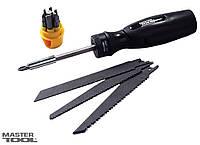Ножовка-отвертка 4-В-1(ножовочное полотно 3 шт+магнитный держатель+насадки отверточные 7 шт)