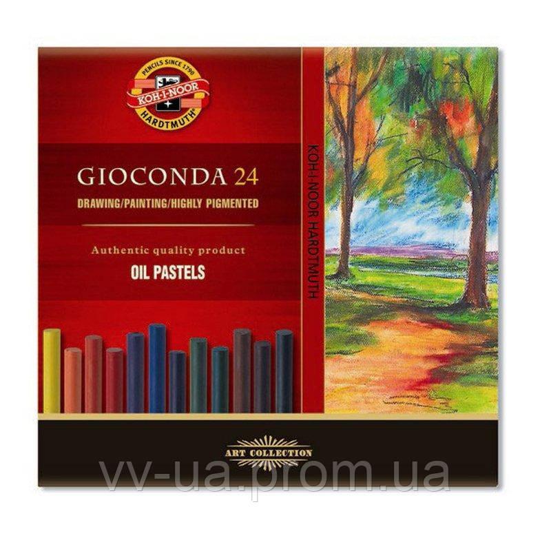 Масляные пастельные мелки Koh-i-Noor Gioconda, 24 цвета