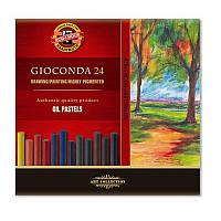 Масляные пастельные мелки Koh-i-Noor Gioconda, 24 цвета (8354024001KS)