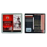 Набор художественный Koh-i-Noor Gioconda 8899, 24 предмета, металлическая упаковка 8899
