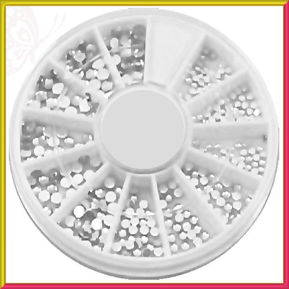 Камни Белые Разного Размера качество LUX, в Каруселях, Декор Ногтей, Дизайн Ногтей