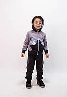 Спортивний костюм з капюшоном для хлопчика з трикотажу тринитка