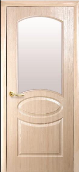 Дверное полотно Новый Стиль Фортис Вензельс со стеклом сатин