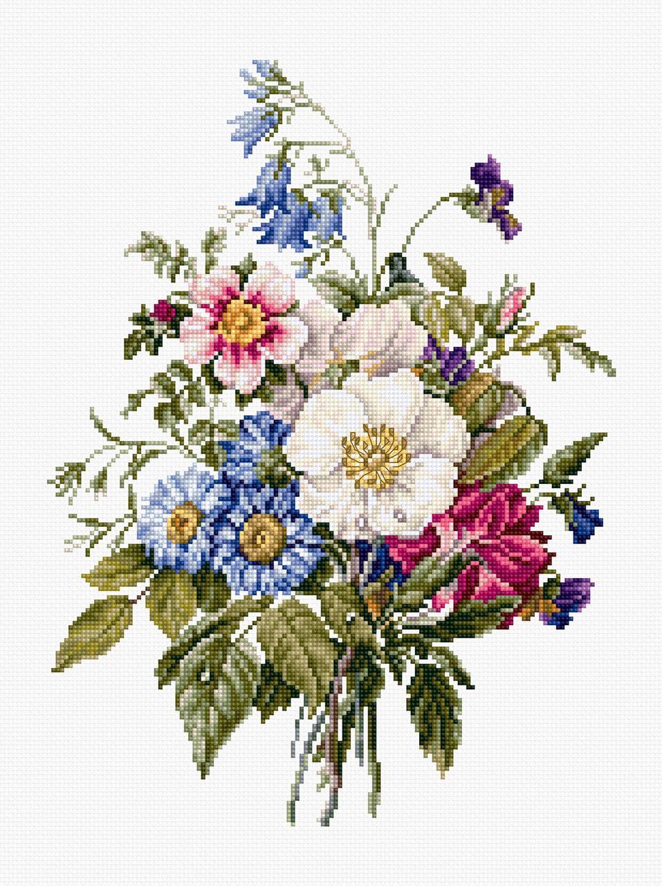 Набор для вышивки крестом Luca-S BU4004 «Букет летних цветов»