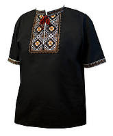 Мужская вышитая футболка «Лямбда»