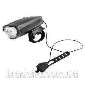 Ліхтар велосипедний пластиковий FY 058 micro USB Велофара