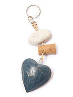 "Брелок ""Сердце"" деревянный,длина 15см"