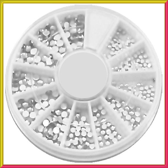 Камни Стразы для Ногтей Прозрачные Разного Размера, качество LUX в Каруселях Упаковками, Дизайн Ногтей