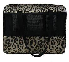 Сумка-переноска для кошек «Леопард 2», 40х20х30 см
