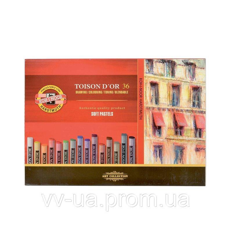 Сухие мягкие пастельные мелки Koh-i-Noor Toison d'Or, 36 цветов 8515