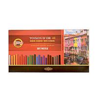 Сухие мягкие пастельные мелки Koh-i-Noor Toison d'Or, 48 цветов 8586048001KS