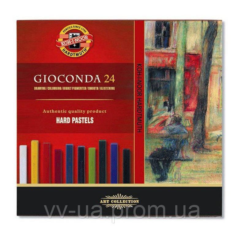 Сухие твердые пастельные мелки Koh-i-Noor Gioconda, 24 цвета (8114)
