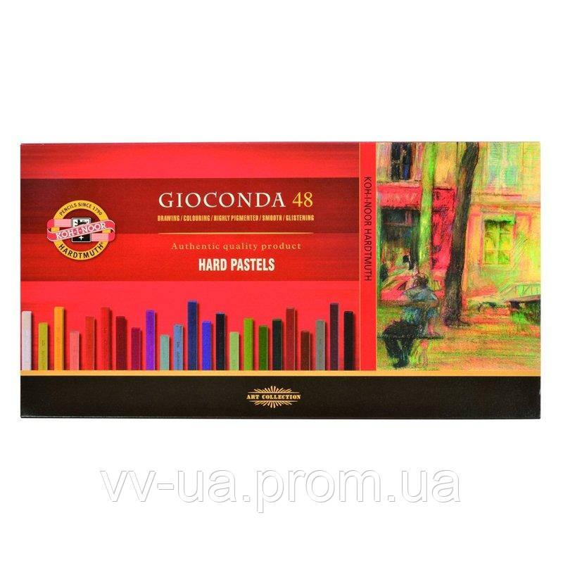 Сухие твердые пастельные мелки Koh-i-Noor Gioconda, 48 цветов