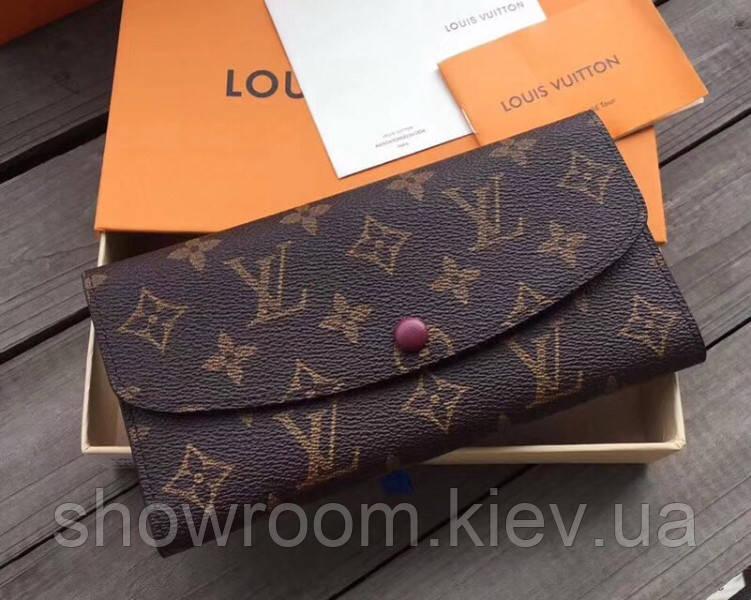Женский кожаный кошелек в стиле Louis Vuitton (60136) red