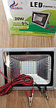 Переносной светодиодный прожектор 12v 20w LED 20w 12v (на зажимах крокодилах), фото 2