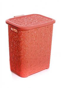 Корзина для белья Tuppex 45 л Розовая 8006-rz