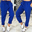 Женские брюки в спортивном стиле из габардина, фото 3