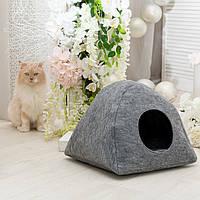 """Домик для животных Digitalwool """"Палатка с подушкой"""", серый (DW-91-23)"""