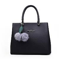 Женская сумка черная с брелочком опт, фото 1
