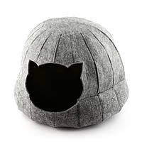 """Домик для животных Digitalwool """"Полусфера с подушкой"""", серый (DW-91-22)"""