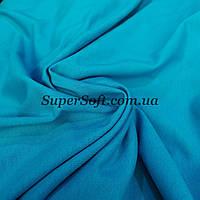 Футер двунитка голубая бирюза, ширина 180см, фото 1