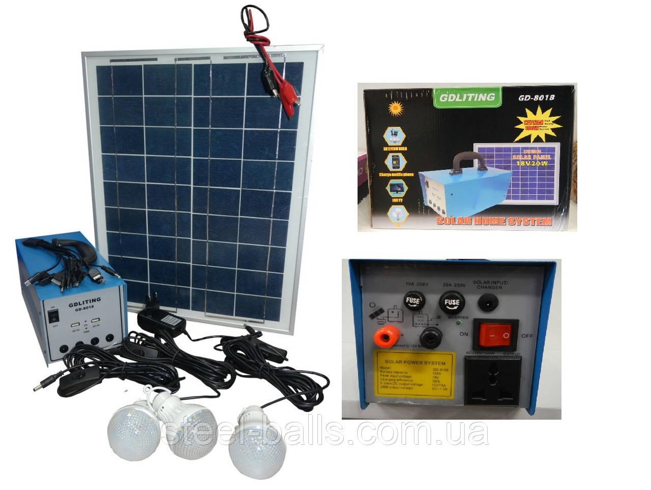 Автономный аккумулятор бесперебойного действия на солнечной батарее (Solar Home Syste)
