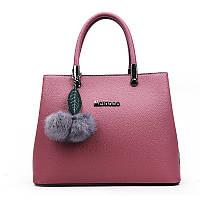 Жіноча містка сумка з брелочка фіолетова опт, фото 1