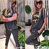 Модный женский костюм с элементами камуфляжной пайетки, фото 3