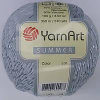 Турецкая летняя пряжа для вязания YarnArt  Summer (саммер)  хлопок с вискозой   50