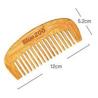 Гребень для волос BLUEZOO из натурального бамбука 1 шт
