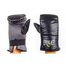 Снарядные перчатки Кожа ELAST (черный)