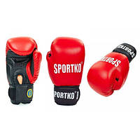 Перчатки боксерские профессиональные ФБУ SPORTKO кожаные UR ПК1 (красный)