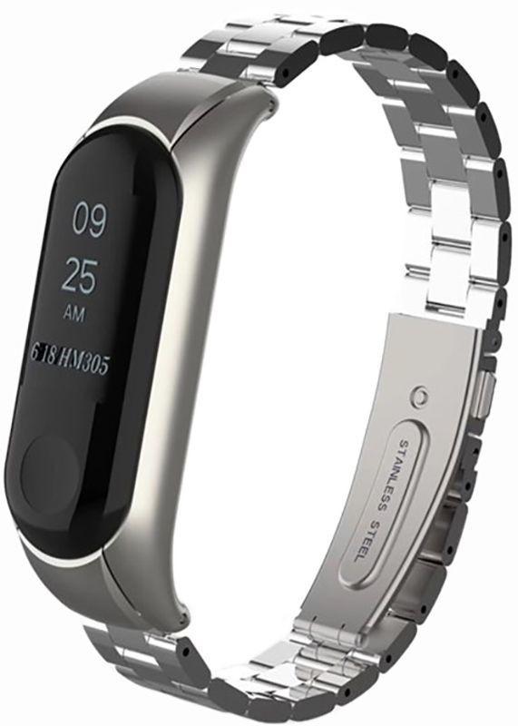 Ремешок для фитнес-браслета Xiaomi Mi Band 3 Metal Silver